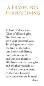 thanksgiving prasyer